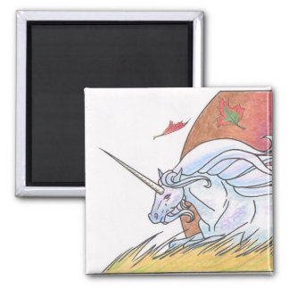 Unicorn Cycle: Autumn ©1999 2 Inch Square Magnet