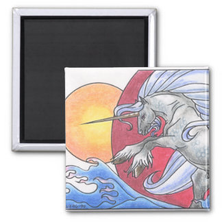 Unicorn Cycle: Summer ©1999 2 Inch Square Magnet