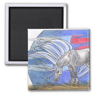 Unicorn Cycle: Winter ©1998 2 Inch Square Magnet
