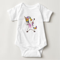Unicorn Dabbing , gifts for girls Baby Bodysuit