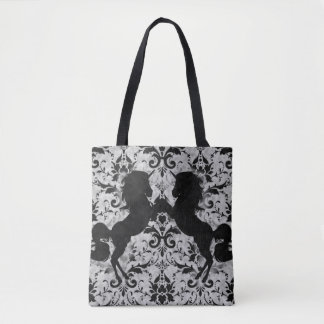 Unicorn Damask Tote Bag