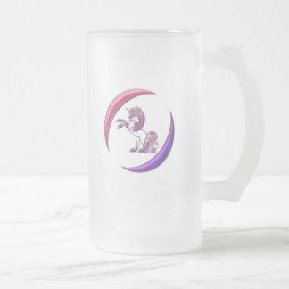 Unicorn Design Frosted Beer Mug