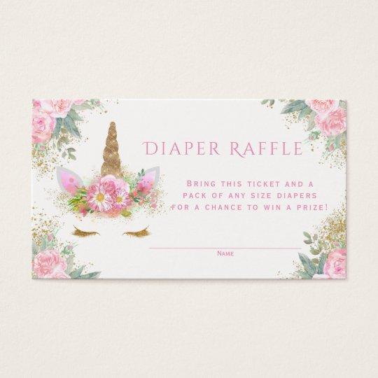 Unicorn Diaper Raffle Tickets Zazzle Com