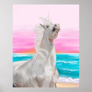 Unicorn Digital Oil Painting Poster