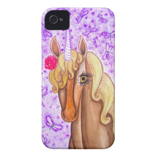 """Unicorn & Dragonflies"" iPhone 4 Case"