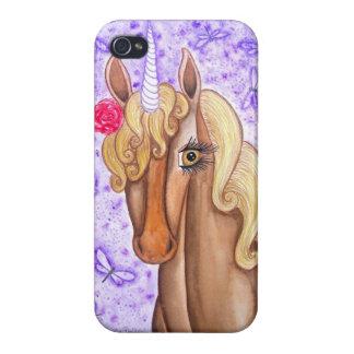 """Unicorn & Dragonflies"" iPhone 4 Cover"
