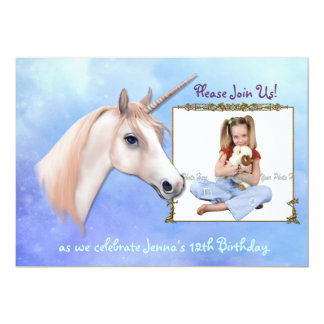 Unicorn Dreams 12th Birthday - Customize Card