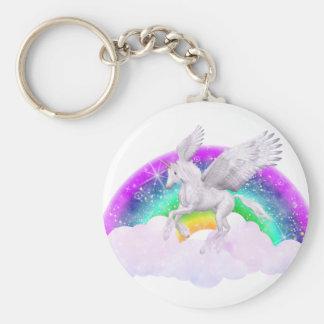 Unicorn Dreams Basic Round Button Keychain
