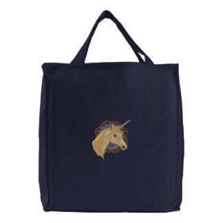 Unicorn Dreams Embroidered Tote Bag