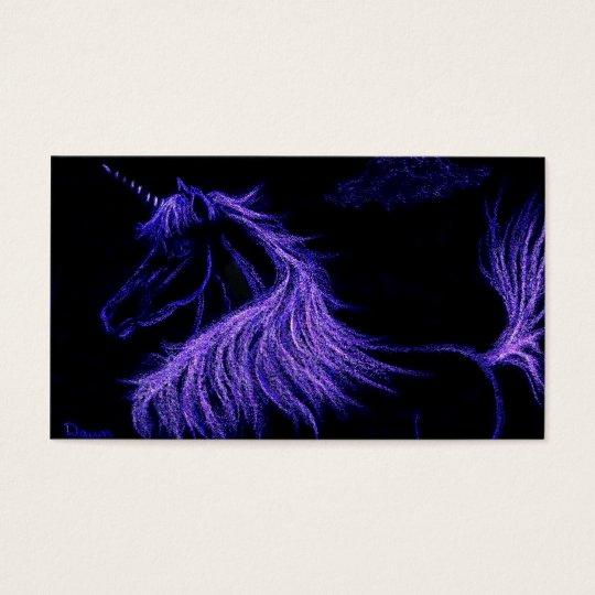 unicorn dreams  lavender business card