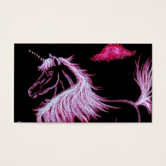 unicorn dreams pink business card