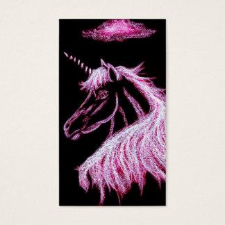 unicorn dreams pink business card