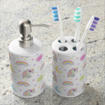 Unicorn Dreams Soap Dispenser And Toothbrush Holder