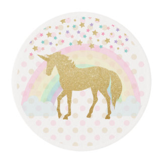 Unicorn Edible Frosting Sheets - 2 Inch Round