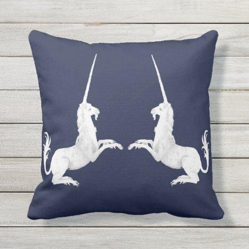 Unicorn - unicorn outdoor pillow