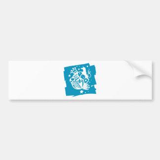 Unicorn_Emblem Bumper Sticker