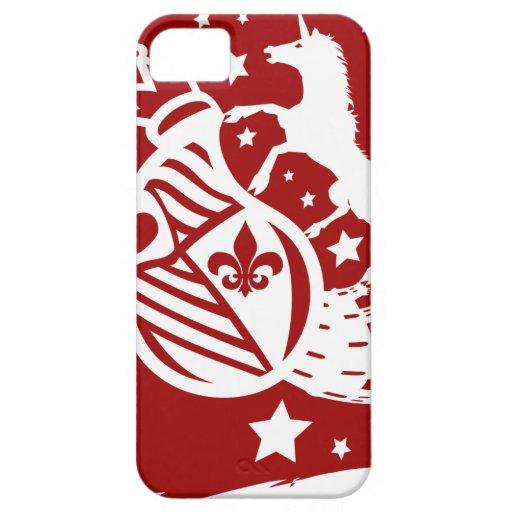 Unicorn_Emblem iPhone 5 Case-Mate Carcasa