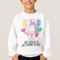Unicorn Embrace Differences Autism Awareneness Sweatshirt