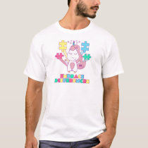 Unicorn Embrace Differences Autism Awareneness T-Shirt