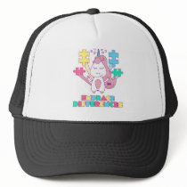 Unicorn Embrace Differences Autism Awareneness Trucker Hat