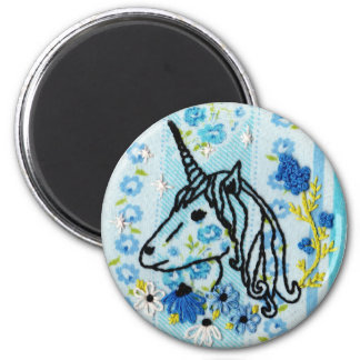 Unicorn Embroidery Magnet - Unicorn Magnet