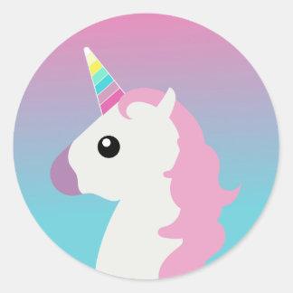 Unicorn Emoji Ombre Stickers
