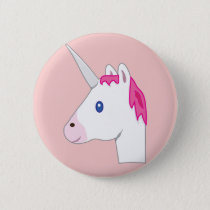 Unicorn emoji pinback button