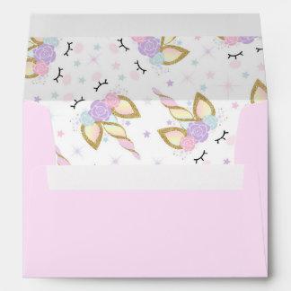 Unicorn Envelope Magical Unicorn Birthday Party