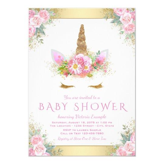 Unicorn face baby shower invitations zazzle unicorn face baby shower invitations stopboris Choice Image