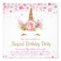 Girls Party Invitations Announcements Zazzle