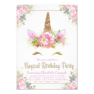 Girls 7th Birthday Invitations Zazzle