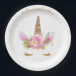 "Unicorn Face Paper Plates<br><div class=""desc"">Make sure to check out the matching collection 