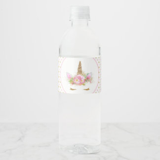 Unicorn Face Unicorn Water Bottle Labels