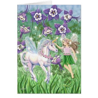 Unicorn Fairy Card