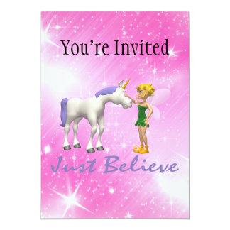 Unicorn & Fairy Just Believe Card
