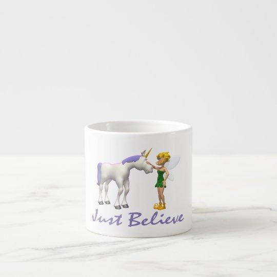 Unicorn & Fairy Just Believe Espresso Cup