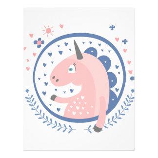 Unicorn Fairy Tale Character Letterhead