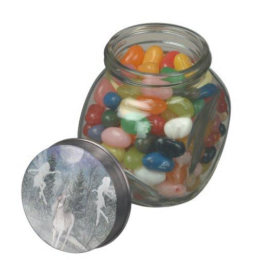 Unicorn fairy winter jellybean jars and tins glass jars