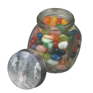 Unicorn fairy winter jellybean jars and tins glass candy jars
