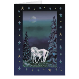 Unicorn Family Christmas Card
