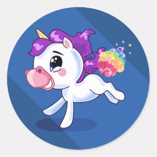 Unicorn Farts Classic Round Sticker