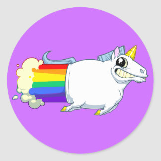 Unicorn Farts Sticker (reversed)