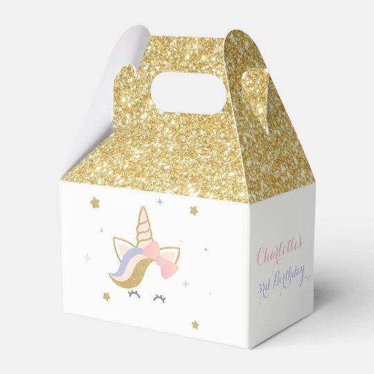 Unicorn Favor Boxes Birthday Party Decorations Box