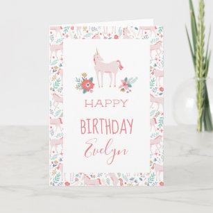 Unicorn Fields Birthday Card