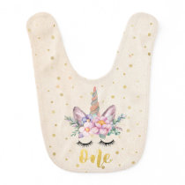 Unicorn First Birthday Bib | Unicorn Face