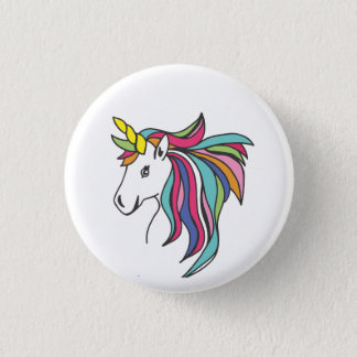 Unicorn Flare Pinback Button