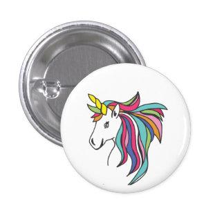 Unicorn Flare Pinback Button