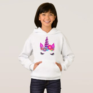 Unicorn Flowery Super Cute Girly Hoodie