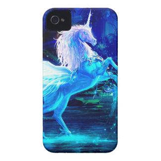 Unicorn Forest Stars Cristal Blue iPhone 4 Case