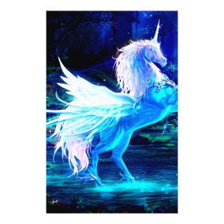 "Unicorn Forest Stars Cristal Blue 5.5"" X 8.5"" Flyer"